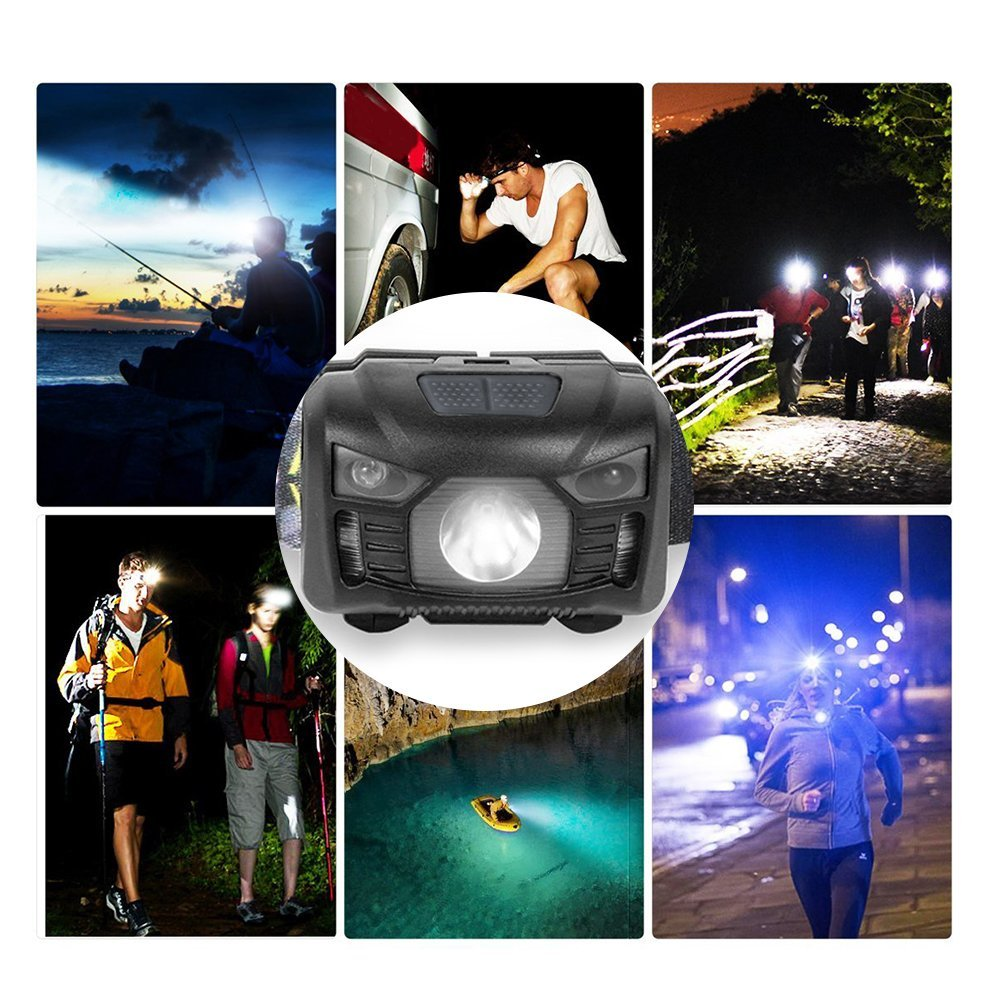 USB Rechargeable LED Head Flashlight,